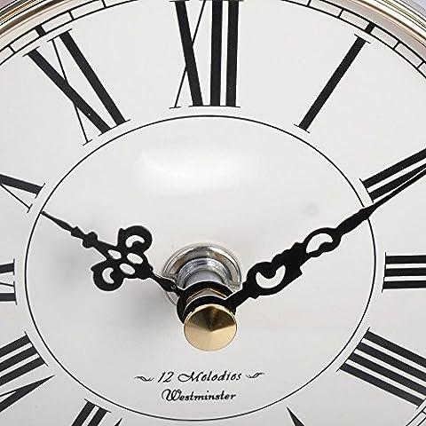 KHSKX Europeo classico orologio di legno solido prospettiva studio camera parlor musicale al quarzo orologi orologio vento Cina
