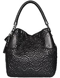 d595f485ed37 SILVIO TOSSI - Swiss Label   Hochwertige Leder Handtasche für Damen    Original Direkt vom Hersteller
