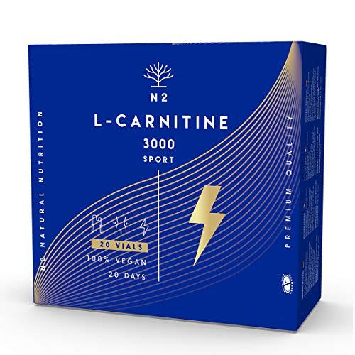 L CARNITINA 3000 Liquida Puro. Potente Integratore Brucia Grassi Natural Dose Elevata di Energia. 20...