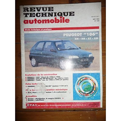 RTA0539 - REVUE TECHNIQUE AUTOMOBILE PEUGEOT 106 XN, XR, XT, XSi