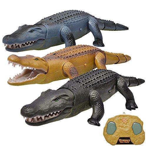 Giocattoli di decompressione,RC gioco o giocattolo,Articoli da regalo e scherzetti,giocattolo del telecomando elettrico di vita reale animali striscianti del coccodrillo di RC,Animali Giocattolo