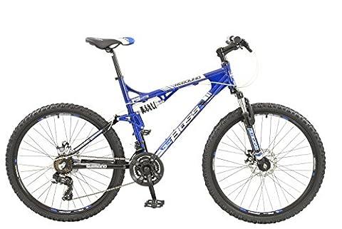 Boss Rebound Mens 21 speed dual suspension mountain bike with disc brakes