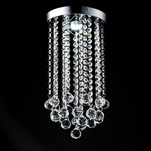 $Beleuchtung Klar K9 Kristall Kronleuchter Esszimmer Leuchten Deluxe Kristall Kronleuchter Kronleuchter Beleuchtung Innenleuchten (Farbe : Weißes Licht) - Kristall Klar Beleuchtung