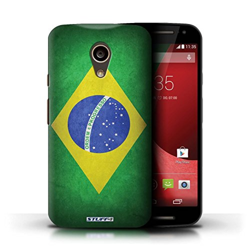 Kobalt® Imprimé Etui / Coque pour Motorola Moto G (2014) / Ghana conception / Série Drapeau Brésil/brésilien
