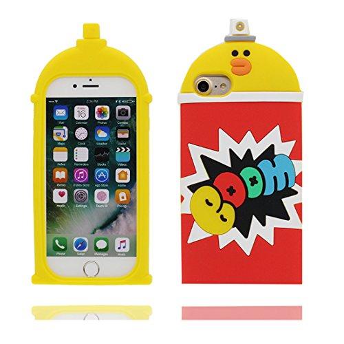 iPhone 6s Plus Custodia, TPU protezione iPhone 6 Plus Copertura 5.5, Case Cartoon Tdurevole Cover - ( 3D anatra Corda Bottiglia ) iPhone 6S Plus shell 5.5 # 2