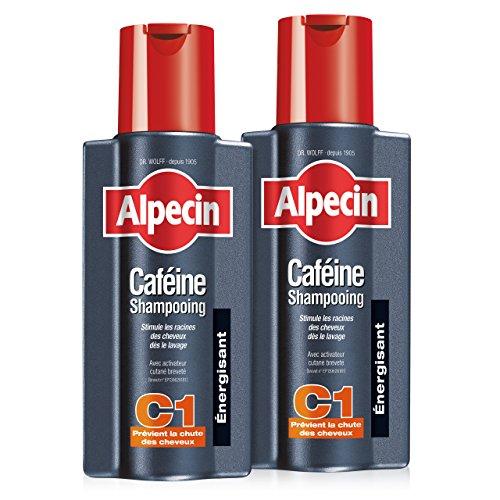 Alpecin Caféine Shampooing C1, 2x250 ml = 500 ml - Shampooing anti-chute