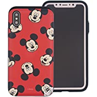 iPhone X Case [Heavy Drop Protection] DISNEY Cute Mickey Mouse Layered Hybrid [TPU + PC] Bumper Cover [Shock Absorption] for Apple iPhone X - Pattern Mickey Mouse