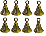 #6: Homeproducts4u POOJA ROOM DOOR BELLS SIZE 1 INCH PACK OF 8 WITH HOOKS