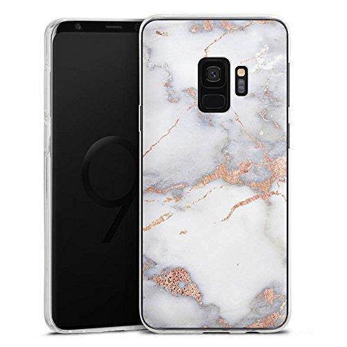 DeinDesign Samsung Galaxy S9 Silikon Hülle Case Schutzhülle Marble Gold Weihnachtsgeschenk Fuer Frauen Marmor