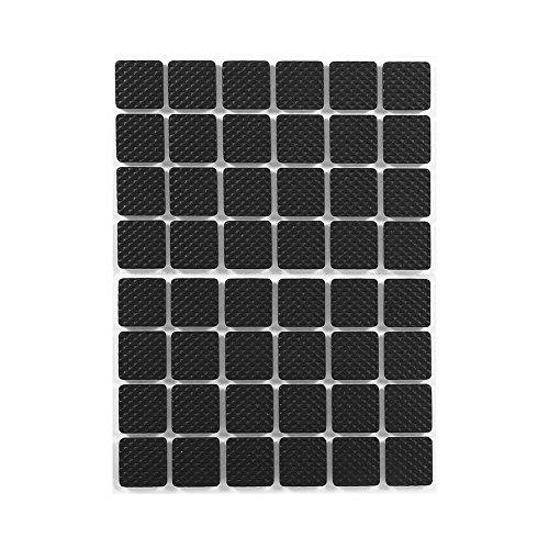Anti Rutsch Gummi Selbstklebend Bodenschützer,48 Stücke Schwarz Tenacious Adhesive Möbelstopper Gummiauflage für Bürostuhl Schreibtische Beine Sofa Füße