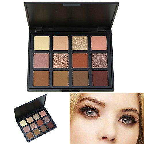 AMBITO Neutral Warme Lidschatten Kosmetic Makeup Set 12 Farben Profi Lidschatten Palette Make Up Kosmetik Eyeshadow Augenpalette - #5 (Schiere Öl)