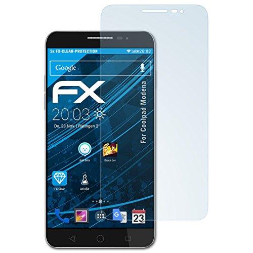 atFolix Schutzfolie kompatibel mit Coolpad Modena Folie, ultraklare FX Bildschirmschutzfolie (3X)