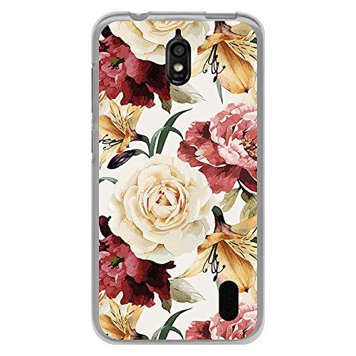 Transparente Hülle für [ Huawei Y625 ], Flexible Silikonhülle, Design: Mohnblumen und Tulpen der weißen Rosen der Blumen - Rose Tätowierungen