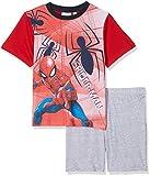 Marvel Jungen Zweiteiliger Schlafanzug The Amazing Spiderman, Rot (Red 19-1763TC), 4 Jahre