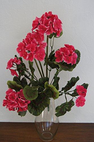 Geranie künstliche Blume Kunstpflanzen Kunstblumen Geranienhänger Dekoration J1