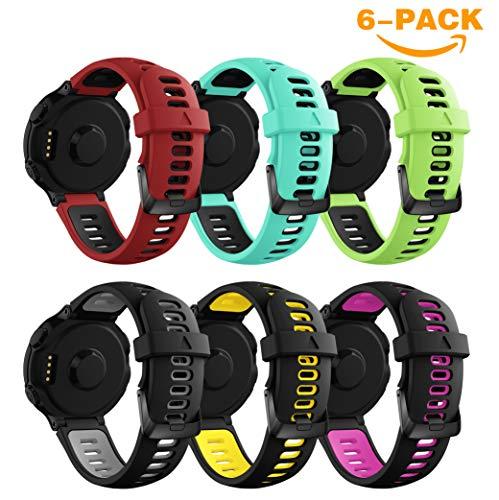 YaYuu Garmin Forerunner Armband,Ersatz Verstellbare Uhrenarmbänd Fitness Tracker Silikon Sports Armband für Garmin Forerunner 735XT/230/235/620/630 GPS Laufuhr