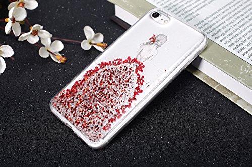 Custodia Cover per iPhone 6 iPhone 6S 4.7 Case ,Ukayfe 2 in 1 Ultra Slim Casa per iPhone 6 iPhone 6S 4.7,Protettiva Custodia stampato Design PC+ Silicone ibrido impatto grande Difensore custodia Combo Bella ragazza-Blu