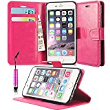 GBOS APPLE IPHONE 7 / IPHONE 8 COVER, PINK LEATHER WALLET FLIP CASE COVER SOFT POUCH BOOK CASE COVER STAND CASE FOR APPLE IPHONE 7 / IPHONE 8 + TOUCH