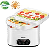 Déshydrateur Alimentaire 5 Trayss avec Écran LCD, 35-70 ° C Régulateur de Température et Minuterie de 72h, Déshydrateur Électrique pour Viande, Poisson, Fruits, Légumes, Sans BPA