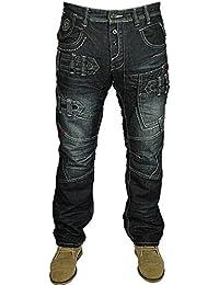 Mens ETO Jeans Funky Style Dark Stonewash - EM583