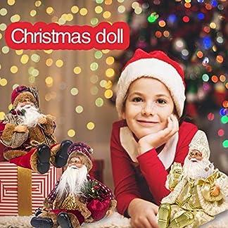 Goforwealth Muñeco De Santa Claus Muñeca Papá Noel 2020 Nueva Muñeca Sentada De Santa Claus Muñeca Navideña De Tela Juguete De Regalo Infantil De Navidad