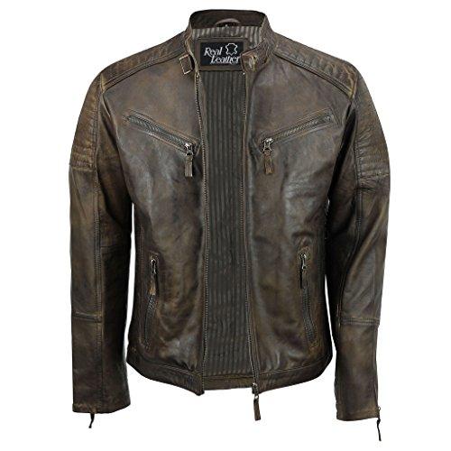 mens-real-leather-fitted-brown-retro-biker-vintage-urban-zip-casual-jacket-m-brown