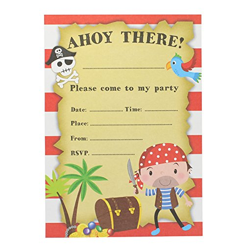 Children's Birthday Party Pack Of 8 Pirate Party -