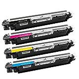 Tigtak HP 126A CE310A CE311A CE312A CE313A Toner Kompatibel für HP Colour Laserjet Pro CP1025 CP1025nw CP1020 | HP Laserjet Pro 100 Color MFP M175 M175a M175nw