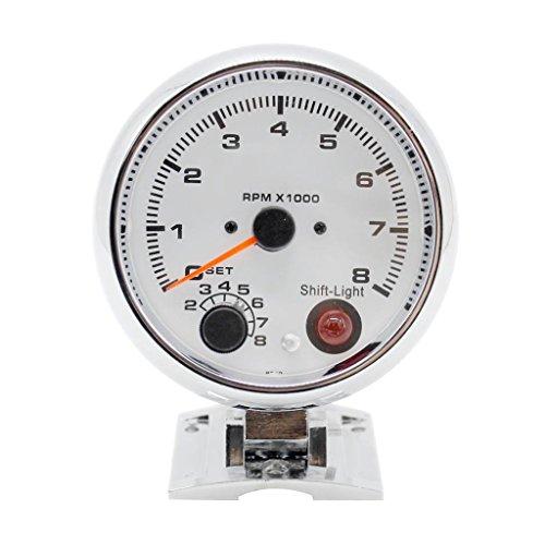 Preisvergleich Produktbild IPOTCH 1 x 0-8000RPM Auto Tachometer Messgerät Meter klare und helle LED-Anzeige Drehzahlmesser