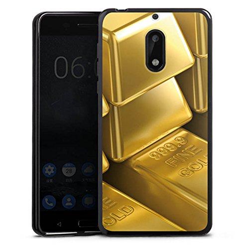 DeinDesign Nokia 6 2017 Silikon Hülle Case Schutzhülle Goldbarren Gold Barren