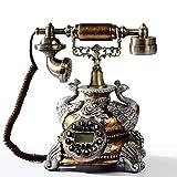 Antique telephone LPY-Retro Home Desk Phone Inicio Creativo Identificador de Llamada, Dormitorio, Sala de Estar, Con pulsadores