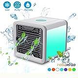 EFINNY Persönlicher Raum Luftkühler, 3 in 1 USB Mini tragbare Klimaanlage Luftbefeuchter Luftreiniger und 7 Farben Nac
