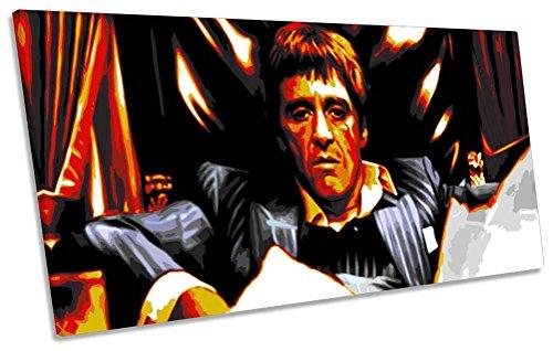 Scarface Tony Montana Film Box Rahmen Leinwand Kunstdruck Panorama Bild, 180cm wide x 90cm high