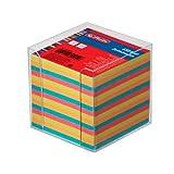 Herlitz 1600253 Zettelkasten 9x9x9cm transparent 650 Blatt farbig