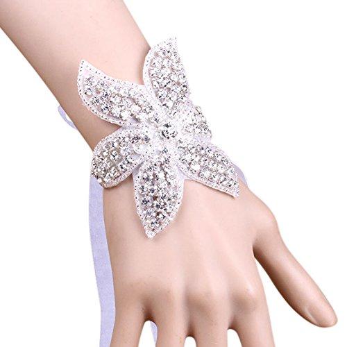 Johlycao bridal fiore polso polso, splendida mano romantico fiore decor wedding corsage polso bella serie per matrimonio, festa, notte di promenade