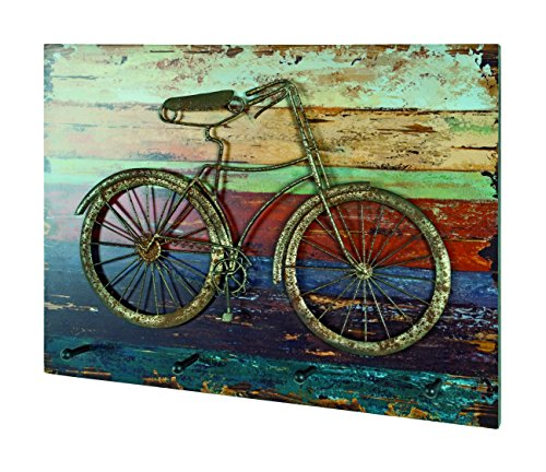 Wandgarderobe Fahrrad aus Metall in 3D Vitnageoptik