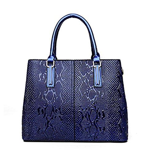 Muster-Frauen-Handtaschen-Blumen-Leder-Frauen-Taschen-Damen-Handbeutel-große Kapazitätblue Beautiful bag (Frauen Converse Blumen)
