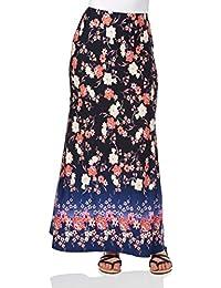 Roman Originals Women's Floral Border Maxi Skirt