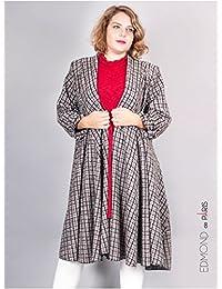Edmond Boublil - Vêtement Femme Grande Taille Gilet Over Edmond Boublil Quadri