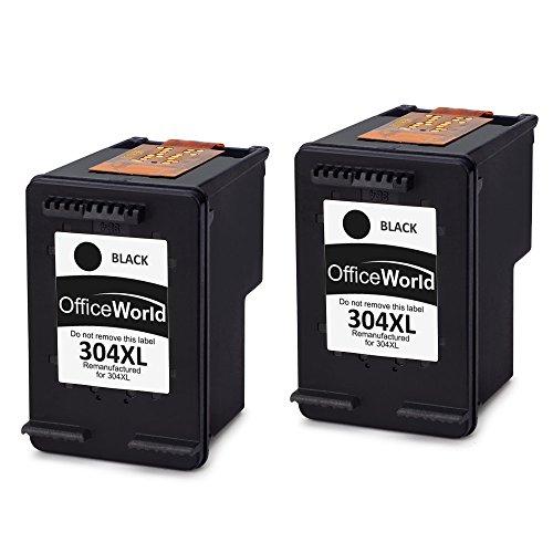 Officeworld remanufactured hp 304 304xl nero cartucce d'inchiostro compatibile per hp deskjet 3720 3700 3730