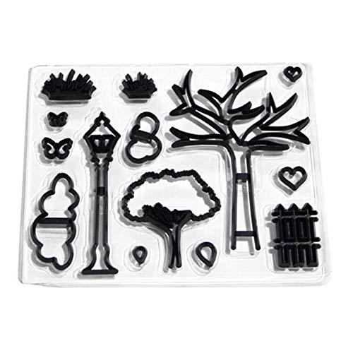 n Set Park Thema Cookie Stanzen Sterben Wolke Form Zaun Form Baum Form Fondant Kuchen Presse Form DIY Backen Dekoration Werkzeug ()