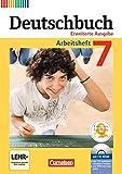 Deutschbuch - Erweiterte Ausgabe: 7. Schuljahr - Arbeitsheft mit Lösungen und Übungs-CD-ROM