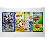 Shopkooky Cartoon Printed Smart 3D Exam Boards / Writing Pad (Assorted Design) / Return Gift / Birthday Gifts Online- Pack Of 6