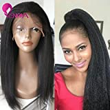 Natural Looking Italian Yaki Lace Front Wigs/ Silk Top Lace Front Wigs Best Brazilian Remy Human Hair Wigs With...