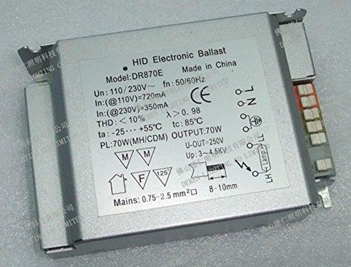 US/EU Standard Hocheffiziente Energiespar 70W breit Spannung 85–265V Elektronische Vorschaltgerät für G12, G8.5Master Colour, RX7s, TT Lampe, Stück 2, dr870e, CE, FCC, RoHS - 2