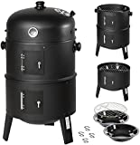 TecTake BBQ Charcoal barbecue smoker with heat indicator - different models - (3in1 Smoker (ton 400820))
