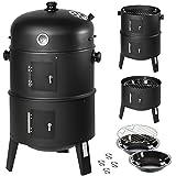 TecTake 3in1 Barbacoa Barbecue Grill con Carbón Vegetal Parrilla Fumador
