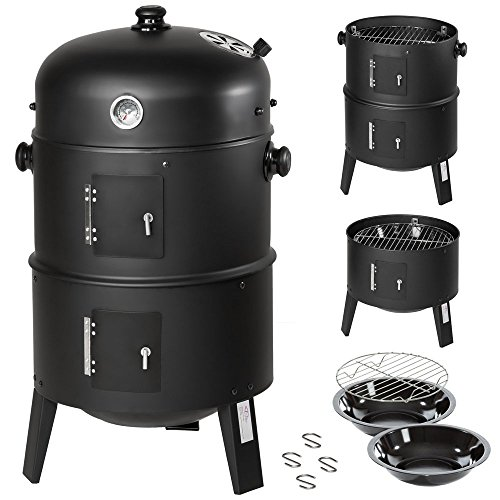 TecTake 3in1 BBQ BARBECUE SMOKER CARBONELLA GRIGLIA