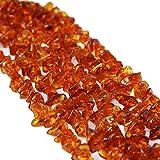 Collana classica super lunga, in ambra baltica color cognac, divertente da indossare198 cm, senza chiusura.