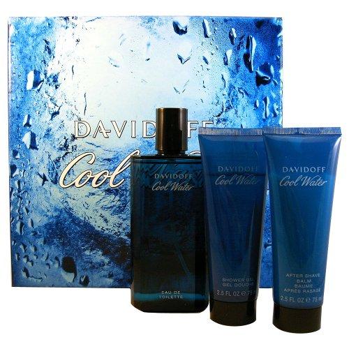 Davidoff Cool Water Homme/Man, Set regalo-Eau de Toilette, 125ml, doccia gel, 75ml plus After Shave Balm, 75ml, 1er Pack (1x 3pezzi)